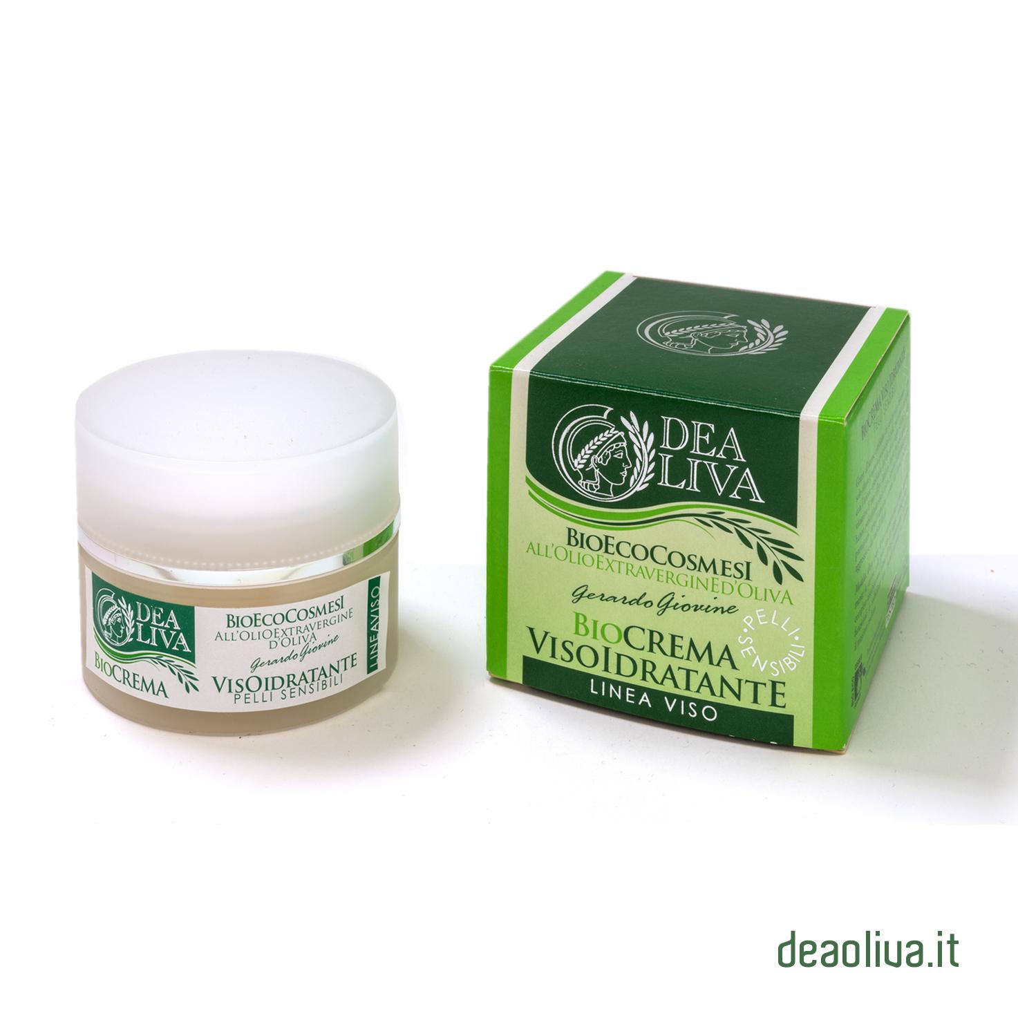 EcoBio Crema Viso Idratante per Pelli Sensibili - Dea Oliva